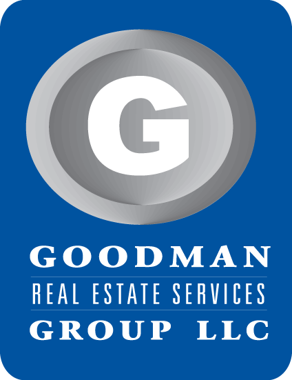 goodman logo. goodman real estate services group llc logo