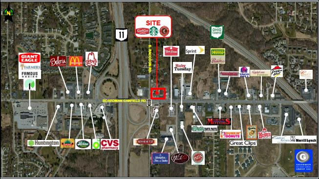 New retail development goodman real estate services group for Parks garden center canfield ohio